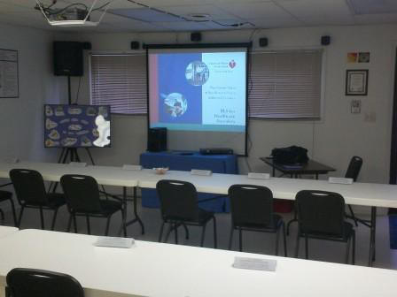 Front of training room @ 1300 Peace Road in New Bern
