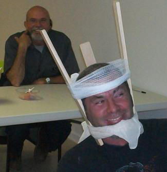 You should be able to have a little fun during First Aid training - Boys will be boys.